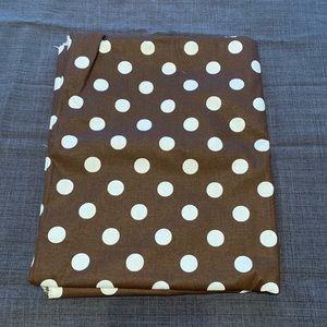 Other - Chocolate Brown Polka Dot Fabric